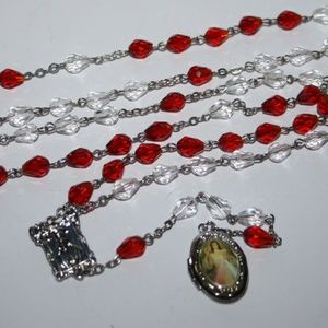 Vintage Rosary with Jesus locket necklace